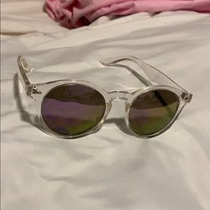 Accessories - Purple and clear glasses